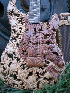 Wooden art guitar