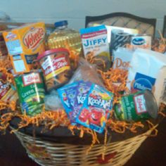 Thanksgiving basket.