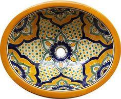 Talavera Mexican Hand Painted Sink by Casa Daya Tile, http://www.amazon.com/dp/B00BWDQNBY/ref=cm_sw_r_pi_dp_XORpsb126P6WN