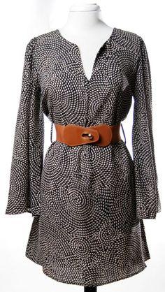 Bell Sleeve Belted Dress