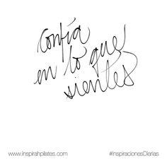 Confía en lo que sientes.  #InspirahcionesDiarias por @CandiaRaquel  Inspirah mueve y crea la realidad que deseas vivir en:  http://ift.tt/1LPkaRs