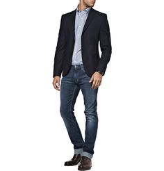 Calvin Klein sport coat in grey herringbone. Grafton 1853 t-shirt