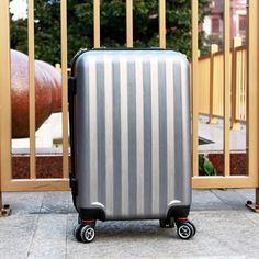 Cabin Luggage Suitcase ABS Trolley Rolling Hardside  Case Silver 20 Inches #Fochier    good suitcase,nice feeling! Cabin Luggage, Luggage Suitcase, Abs, Nice, Silver, Crunches, Money, Abdominal Muscles, Killer Abs
