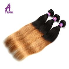 Ombre Peruvian Virgin Hair Straight 3 Bundles Ombre Straight Hair Weave 8A Grade Virgin Unprocessed Ombre Human Hair Extensions