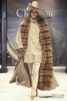 Image from object titled 'Christian Dior, Autumn-Winter Couture' Christian Dior Designer, Christian Dior Vintage, Vintage Fur, Vintage Glamour, Fur Fashion, Fashion Brands, 20th Century Fashion, Ferrat, Dior Couture