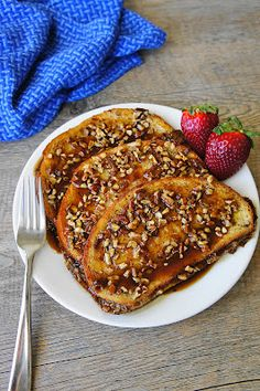 I could eat breakfast for every meal for the rest of my life, and this is part of the reason why: Praline-Pecan French Toast
