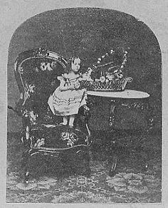"Dolly Dutton (1852 - June 6, 1890), AKA ""The Little Fairy,"" born Alice Marie, was thirty-nine inches tall and weighed fifteen pounds. She was born in Framingham, Massachusetts. Aside from performing at freakshows with her sister, Etta, who died when she was eight, she was a teacher. In 1882, Dolly was brought to a mental institution for ""domestic troubles."""