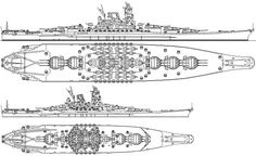 """""""The Japanese were planning an even larger battleship, the 'Super Yamato' Imperial Japanese Navy, Ship Drawing, Naval History, Alternate History, Navy Ships, Military Equipment, Aircraft Carrier, War Machine, Water Crafts"""