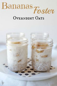 Bananas Foster Overnight Oats Recipe Do you know what's better than oatmeal packets? This easy bananas foster overnight oats recipe! Full of flavor and alcohol free. Oats Recipes, Cooking Recipes, Freezer Recipes, Freezer Cooking, Drink Recipes, Cooking Tips, Breakfast Time, Breakfast Recipes, Mexican Breakfast