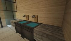Minecraft Kitchen Ideas Xbox minecraft bathroom pink girl wallpaper wall design shower sink