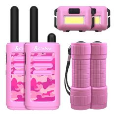 Little Girl Toys, Toys For Girls, Spy Gadgets, Pink Camouflage, Kids Up, Two Way Radio, Lol Dolls, Led Flashlight, Walkie Talkie