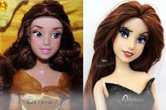 Disney Vanessa Doll Repaint #2   Before-After by claude-on-the-road on DeviantArt