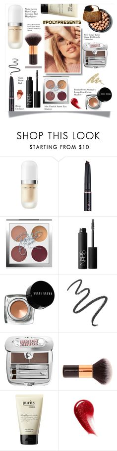 """#PolyPresents: Sparkly Beauty"" by arwaroro48 ❤ liked on Polyvore featuring beauty, Marc Jacobs, MAC Cosmetics, NARS Cosmetics, Bobbi Brown Cosmetics, Maybelline, Benefit, philosophy, Urban Decay and contestentry"
