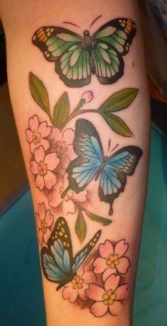 cherry blossom tattoo with butterly & ladybug | deviantART: More Like Lantern Tattoo by ~BlackStarTattoo