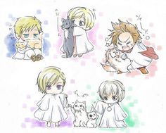 You Turn Into A Chibi | Boyfriend Scenarios: Hetalia