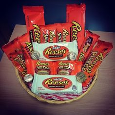 HURRY ONLY 9 REMAINING Reese s Hamper SPECIAL OFFER ** American Candy ** DISCOUNT DEAL GIFT WRAPPED