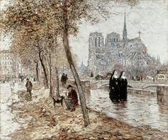 Jean-Francois Raffaelli - Notre Dame De Paris - art prints and posters
