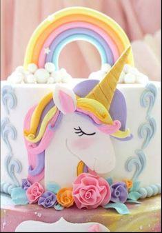 Fairy Birthday Cake, Cool Birthday Cakes, Unicorn Birthday Parties, Unicorn Party, Unicorn Cale, Unicorn Cake Topper, Cake Photography, Unicorn Print, Cake Toppers