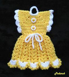 "Photo from album ""Прихватки on Yandex. Crochet Hot Pads, Crochet Towel, Free Crochet, Vintage Potholders, Crochet Potholders, Potholder Patterns, Crochet Patterns, Crochet Doll Dress, Rainbow Crochet"