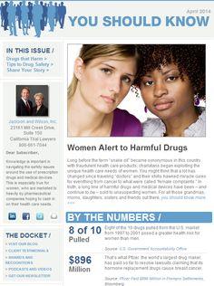 Dangerous Drugs and Women  Women suffer disproportionately from dangerous and defective drugs. You should know more…http://jacksonandwilson.com/newsletter-women-alert-to-harmful-drugs/  #dangerousdrugs #newsletter