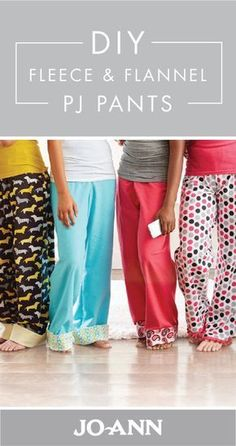 Sewing For Beginners Projects This craft project for DIY Fleece and Flannel PJ Pants is a great activity for winter. Whether you choose to make them for your family or friends, everyone will love how cozy this homemade loungewear is! Diy Sewing Projects, Sewing Projects For Beginners, Sewing Tutorials, Sewing Hacks, Sewing Crafts, Sewing Tips, Fleece Projects, Sewing Ideas, Sewing Lessons