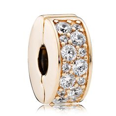 New 925 Sterling Silver Bead Charm Gold Color Shining Elegance Clip Lock  Stopper Beads Fit Pandora Bracelet Bangle Diy Jewelry 5af498c0669