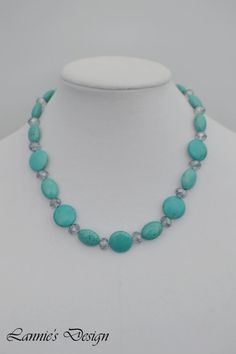Turquoise Necklace, Turquoise Earrings, Necklace and Earrings Set, Turquoise Jewelry Set, Free Shipping anywhere in the USA