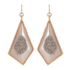 Love these polished titanium druzy earrings.