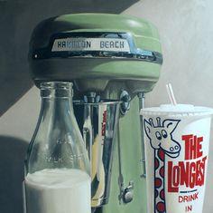 Hamilton Beach Milkshake by Kiwiana Artist Matt Guild for Sale - NZ Art Prints New Zealand Beach, New Zealand Food, New Zealand Houses, New Zealand Art, Long White Cloud, Fine Art Posters, Kiwiana, Glass Milk Bottles, Nz Art