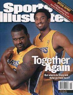 My Lakers Fan Days: Sports Illustrated June 25 Kobe Bryant & Shaq. Sports Basketball, Basketball Players, Kobe Bryant And Wife, Sports Magazine Covers, Kobe Lebron, North Fort Myers, Sports Illustrated Covers, Nba Championships, Sports