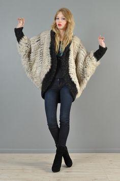 Arctic fox fur cocoon @bustownmodern