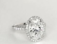 Blue Nile Studio Oval Cut Heiress Halo Diamond Engagement Ring in Platinum (1/2 ct. tw.)   Blue Nile