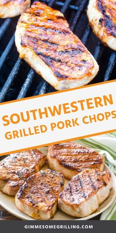 Easy grilled boneless pork chops that are seasoned with taco seasoning for a juicy pork chop that is full of flavor. It's the perfect easy weeknight grilling recipe your entire family will love! #grilled #porkchops