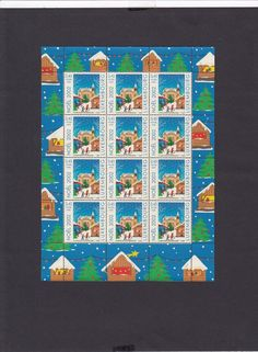 1238 Luxembourg Stamps MNH Complete Sheet Noel 2002 0.45€ Cinnamon Smell& Taste