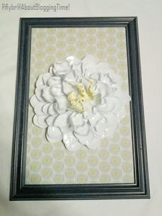 AboutBloggingTime!: In full bloom - Framed Flower Art made from melting plastic cutlery