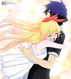 Nisekoi Chitoge And Raku All Anime, Anime Guys, Anime Art, Manga Couple, Anime Love Couple, Nisekoi Manga, Nisekoi Wallpaper, Cute Anime Coupes, Anime Kawaii