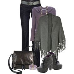 """Stay warm in Lavender & Gray"""