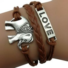 Elephant Love Arm Party Bracelet