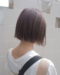 Blunt Bob Hairstyles, Blunt Haircut, Short Hairstyles For Women, Short Hair Styles, Natural Hair Styles, Asian Short Hair, Aesthetic Hair, Haircut And Color, Hair Inspo