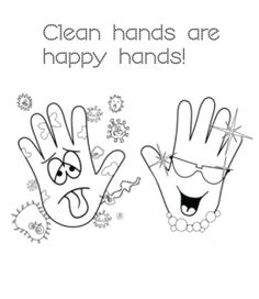 Flu Season Clean Hands for kids Seasons Worksheets, Worksheets For Kids, Thanksgiving Coloring Pages, Christmas Coloring Pages, Baby Drawing, Drawing For Kids, Color Activities, Preschool Activities, Hand Coloring