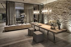 Hotel Wiesergut yang terletak di pegunungan di Austria ini memiliki desain interior yang mengundang dan nyaman bagi pengunjung yang datang ke sana.
