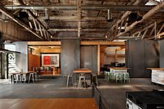 Charles Smith Wines Tasting Room and World Headquarters; Walla Walla, Washington / Olson Kundig Architects Such an awesome tasting room in Cafe Industrial, Industrial Bedroom, Industrial Office, Industrial Design, Industrial Wallpaper, Industrial Stairs, Industrial Closet, Industrial Windows, Industrial Apartment