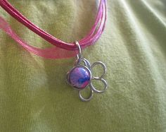 Wire and bead flower