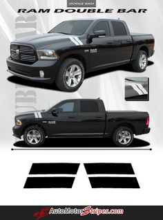 Vehicle Specific Style Dodge Ram Truck Double Bar Hood Hash Marks Vinyl Graphic Stripe Decals Year Fitment 2009 2010 2011 2012 2013 2014 2015 2016 Contents Hood