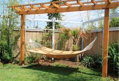 Hammock Stand. Need to add one of these to the landscape plan.