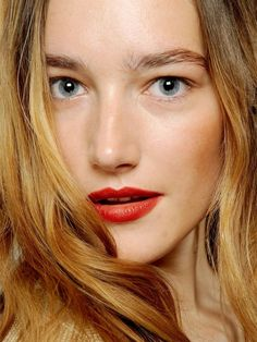 The Best Lip Colors for Fall --  BRICK RED – red lips will never go out of style, that's for sure. For fall this year, choose to wear brick red instead of the usual bright red. A good brick red lip color will have that burnt orange-y hue mixed with red and a hint of rusty brown.