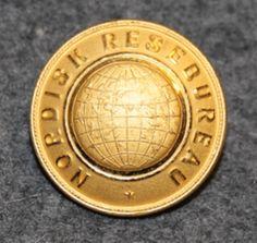 Nordisk Resebureu, travel agency, 24mm, gilt.