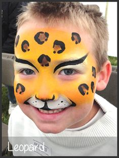leopard face painting by mimicks