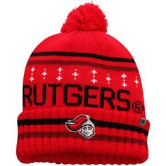 fa32a0022ac Men s Top of the World Scarlet Rutgers Scarlet Knights Barometer Cuffed  Knit Hat with Pom University