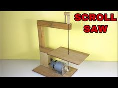 How to make SCROLL SAW machine at home portable mini table saw Materials 775 motor Switch & Dc socket Scroll saw blades Music Credit🔻 Aero Chord - Time Le. Woodworking Techniques, Woodworking Projects Diy, Woodworking Wood, Diy Wood Projects, Scroll Saw Blades, Diy Furniture Videos, Dremel Wood Carving, Homemade Tools, Scroll Saw Patterns
